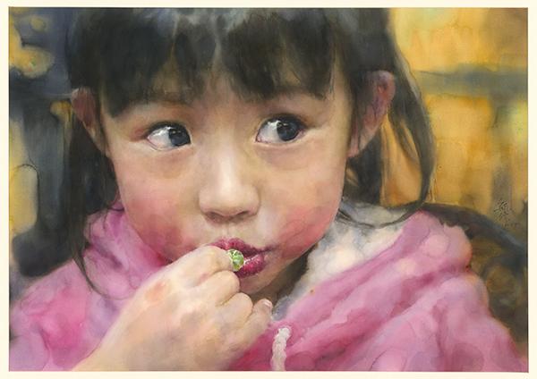 林毓修水彩畫作-恬甜