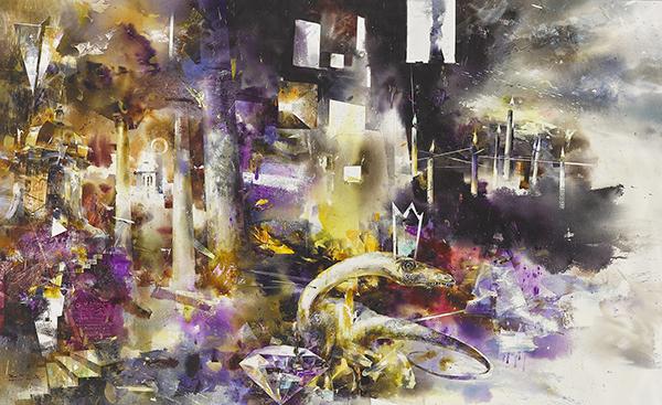 蔣玉俊水彩畫作-世紀末的果凍色嘉冕