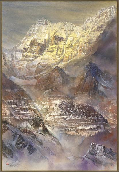 郭明福水彩畫作-眾神聖殿