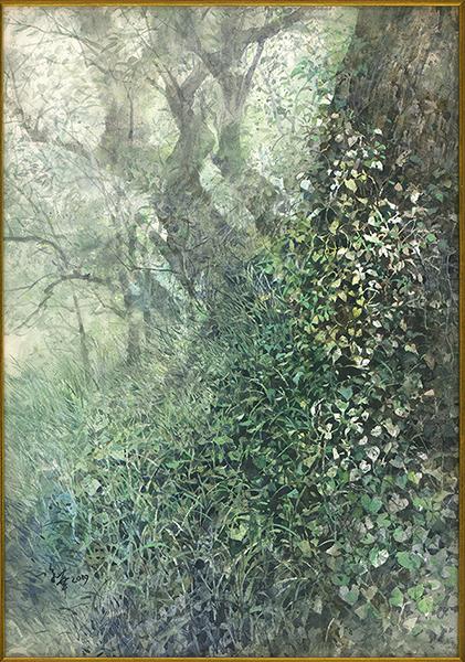 陳俊華水彩畫作-大樹下