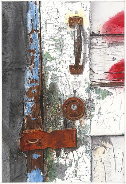 Laurin McCracken,  Peeling Paint and Rusty Locks 漆斑駁 鎖生鏽