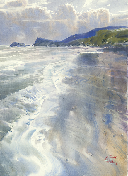 Sergey Temerev-The Wind and the Silk Foam of the Surf