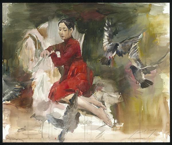 Yoshiharu Daigo,  Girls with Birds 女孩與鳥