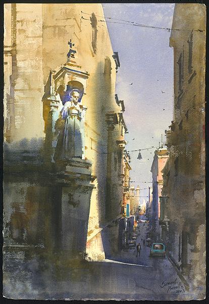 Prafull Bhimraj Sawant,  Morning Light at Malta 馬爾他的晨光