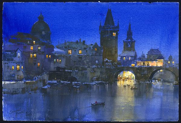 Prafull Bhimraj Sawant,  Blue Night at Prague 布拉格的藍色夜晚