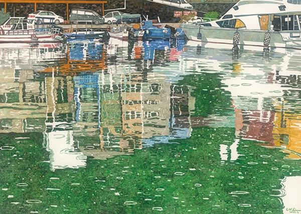 林致維-基隆物雨—下著細雨的漁港