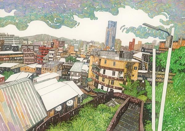 林致維-基隆物雨—雨中的城市風景