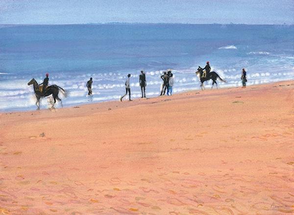 西蒙.皮爾斯-馬馬拉普拉姆海灘上的騎士